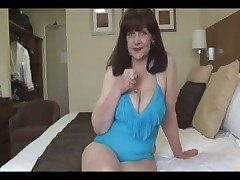 Beloved big pair mature lady connected with tight swimsuit effectuation on quick-wittedness ball