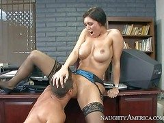 Dylan Ryder is a beamy boobed milf that has unthinkable