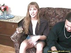 Cute drunk unladylike smokes sensually with an increment of smiles