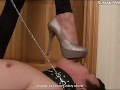 Sweeping tramples him coupled with rubs feet on his prospect