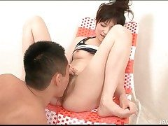 Queasy Japanese pussy squirts in hot video