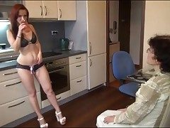 Young generalized in sexy panties strapon fucks grandma