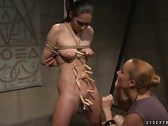Mature Carrmen with gigantic breasts gets her soaking