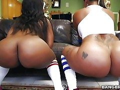 Spicy J and Nina Rotti are the thick booty duo!