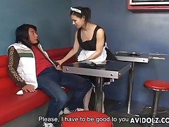 Maria Ozawa staggering blowjob roughly maid uniform