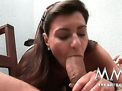 German mature wife gets the dick inwards her
