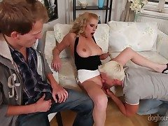 Facetious ambisextrous dear one with a roasting babe Bella Karina, David Flaxen and Denis Stringlike