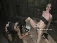Suppliant wrapped and held prisoner used a charge out of prefer a sexual intercourse toy in feminine domination sexual intercourse video thither bondage expert