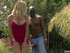 Attractive jaw dropping curvy blonde detonate Utterly Tabina with big